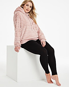 Boux Avenue Stripe Fur Hoody