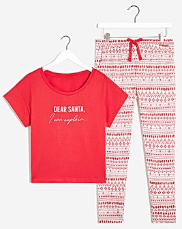 Boux Avenue Dear Santa PJ Set
