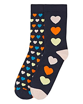 Pretty Polly 2PP Heart Bamboo Socks