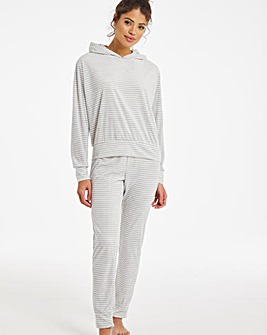 Boux Avenue Velour Stripe Twosie