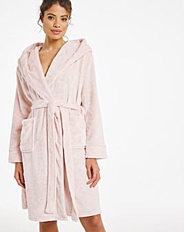 Boux Avenue Embroidered Hooded Robe
