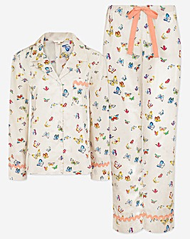 Cath Kidston Butterflies Woven PJ Set