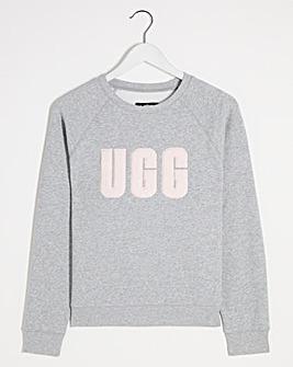 UGG Madeline Fuzzy Logo Lounge Sweater