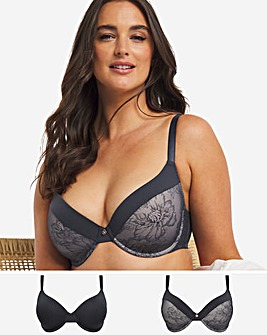 Dorina Curves Alice 2 Pack Full Cup Wired Bras