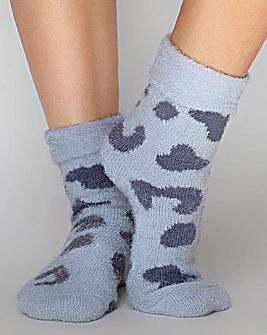 Boux Avenue Leopard Cosy Socks