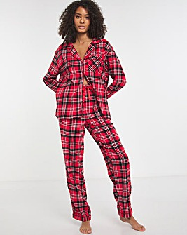 Boux Avenue Red/Black Check PJ in a Bag