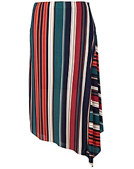 Izabel London Curve Striped Skirt