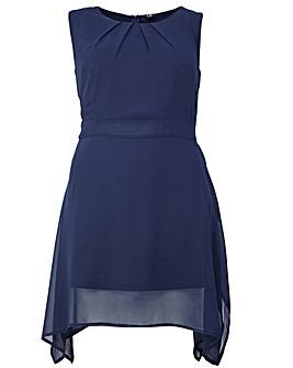 Izabel London Curve Tie Belted Dress