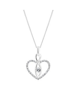Simply Silver Heart Pendant Necklace