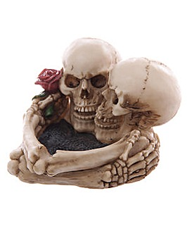 Gruesome Skull Lovers Ashtray
