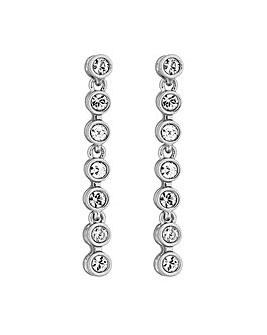 Jon Richard Silver Crystal Drop Earring