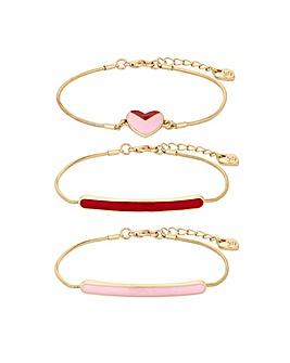 Lipsy Gold Plated Heart Bracelet Pack