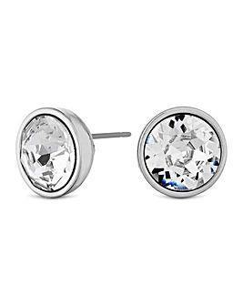 Jon Richard Silver Crystal Stud Earring