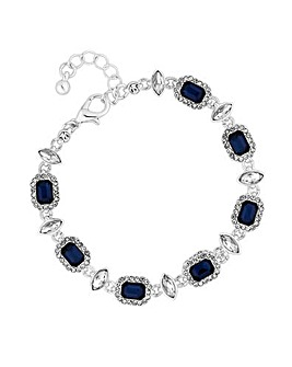 Jon Richard Blue Crystal Square Bracelet