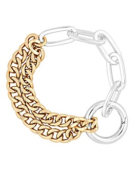 Mood Mixed Plate Chunky Chain Bracelet