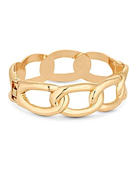 Mood Gold Plated Chain Clamp Bracelet