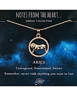 Aries Zodiac Sign Pendant