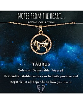 Taurus Zodiac Sign Pendant