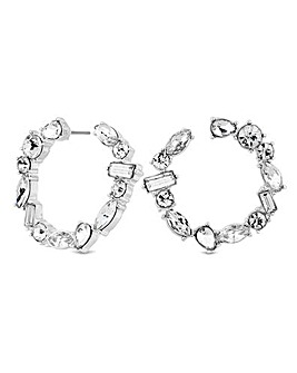 Mood Silver Plated Horseshoe Earrings