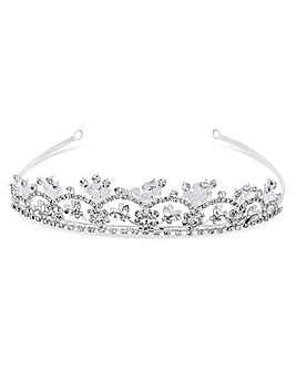 Jon Richard Silver Plated Crystal Tiara
