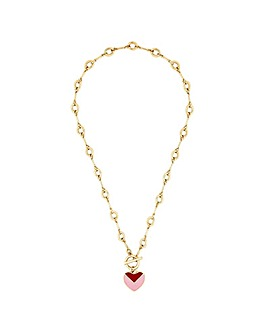 Lipsy Gold Plated Enamel Heart Necklace
