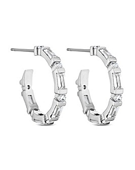 Jon Richard Silver Plated Hoop Earring