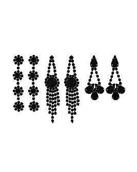 MOOD By Jon Richard Black Drop Earring