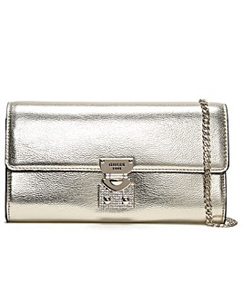 Guess Lynda Pebbled Diamante Clutch Bag