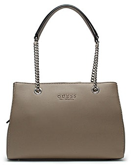 Guess Robyn Textured Satchel Bag
