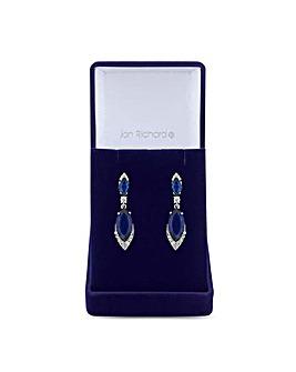 Jon Richard Sapphire Blue Drop Earring