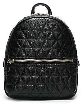 Guess Tabbi Quilted Logo Backpack