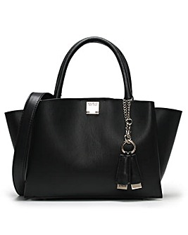 Guess Lenia Smooth Satchel Bag