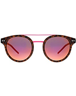 Polaroid Double Bridge Round Sunglasses