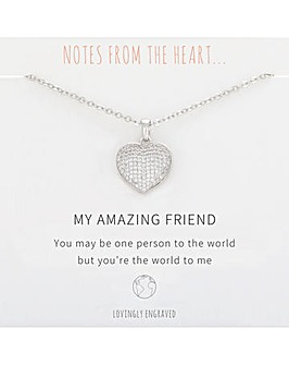My Amazing Friend Heart Pendant
