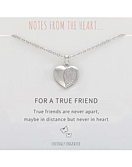 For A True Friend Heart Pendant