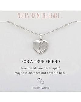 For A True Friend Heart Pendant