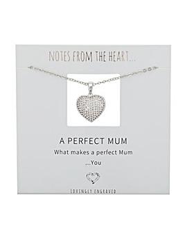 A Perfect Mum Heart Pendant