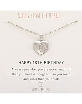 Happy 18th Birthday Pendant