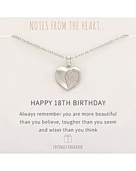 Happy 18th Birthday Pendant