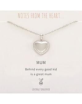 Mum Heart Pendant