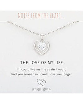 The Love of My Life Heart Pendant