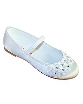 Sparkle Club White Flats