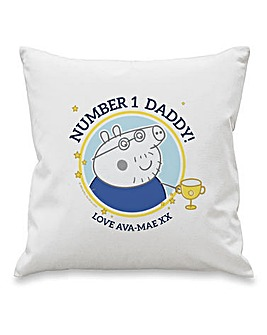 Personalised Daddy Pig Cushion