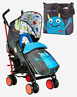 Cosatto Supa 2 Stroller & Change Bag - Monster Mob