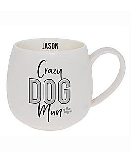 Personalised Crazy Dog Man Mug