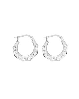 Sterling Silver Octagonal Earrings