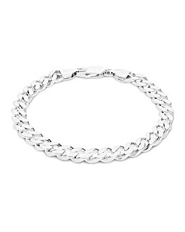 Sterling Silver Square Curb Bracelet