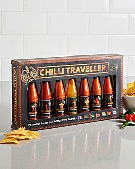 7 Bottles of Hot Sauce Set
