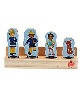 Fireman Sam Wooden Four Figure Pack