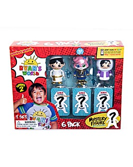 Ryan's World 6 Pack Collectible Mystery Figure Set